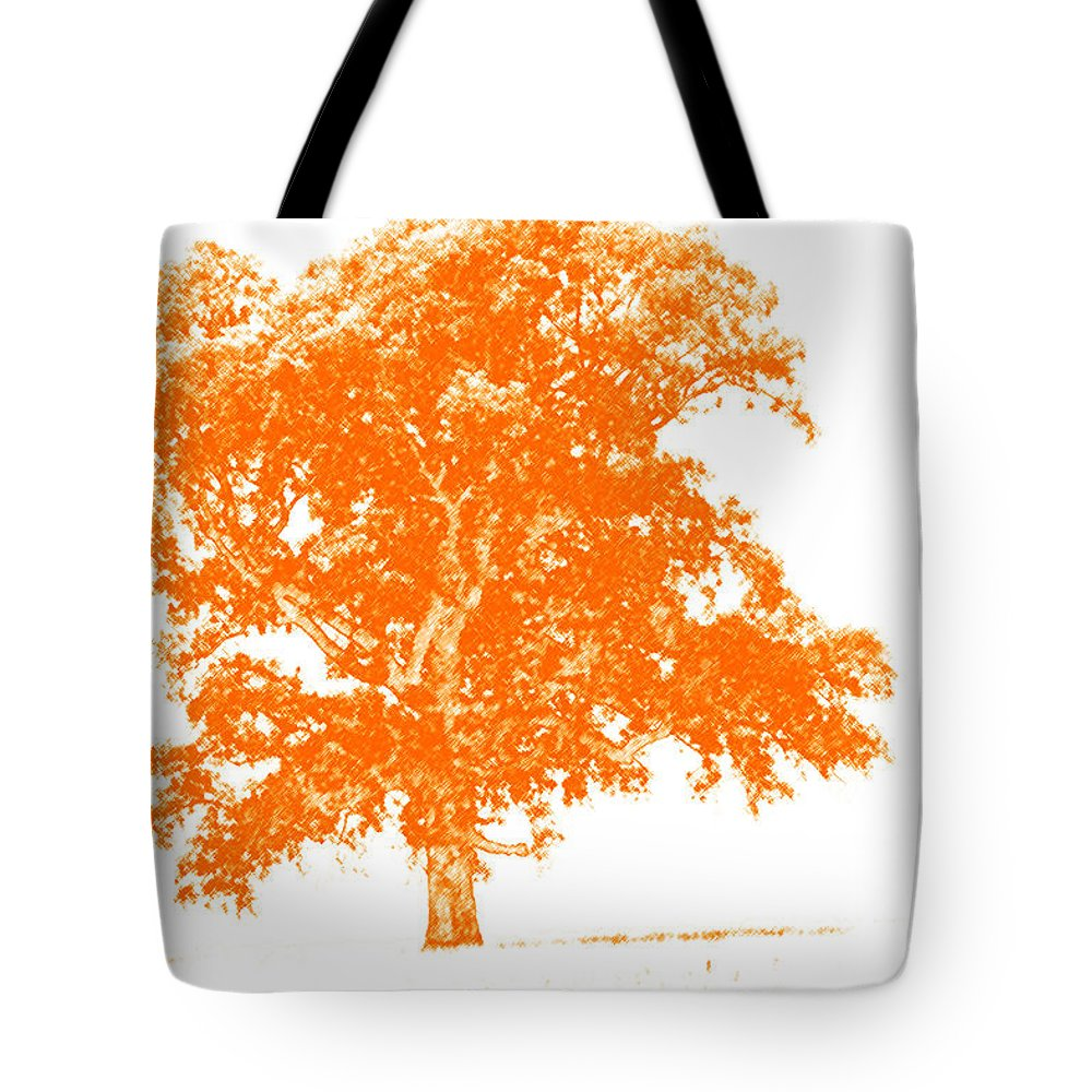 Art Tote Bag featuring the photograph Orange Oak by Alan Look