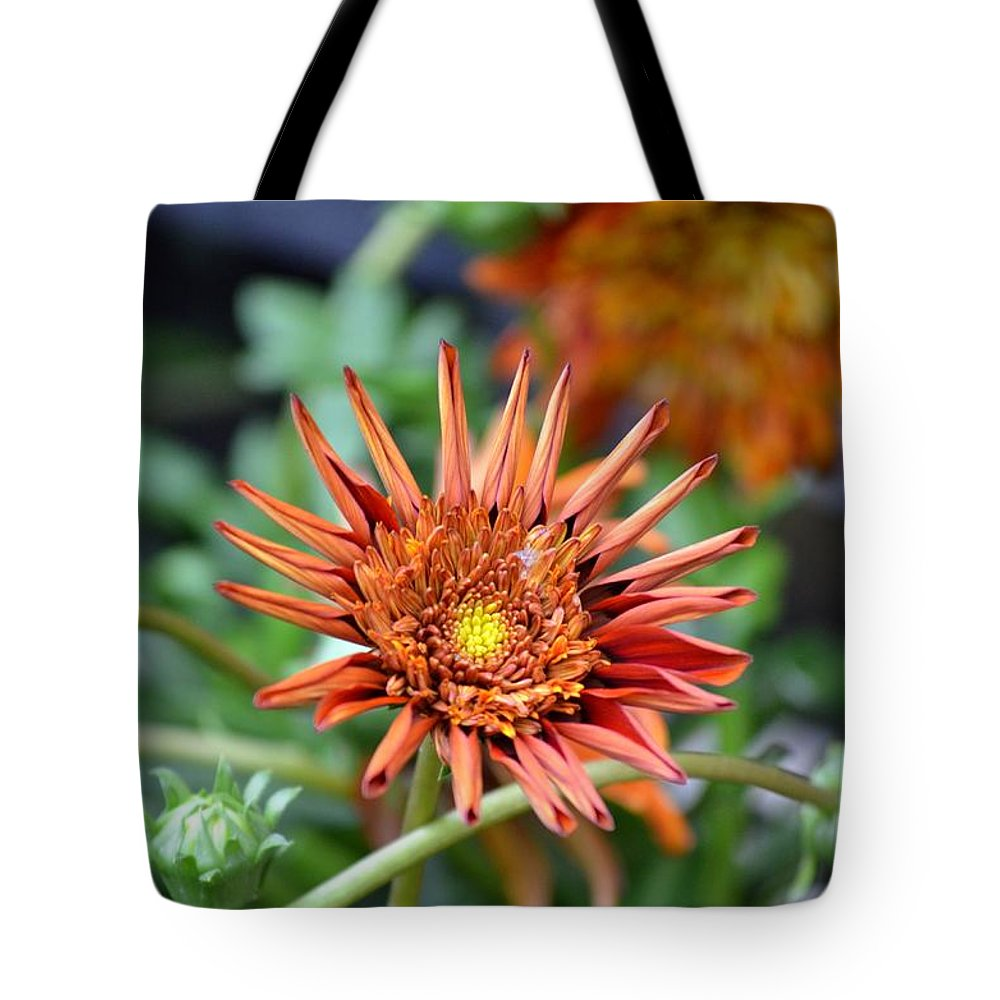 Orange Tote Bag featuring the photograph Orange Starburst by Maria Urso