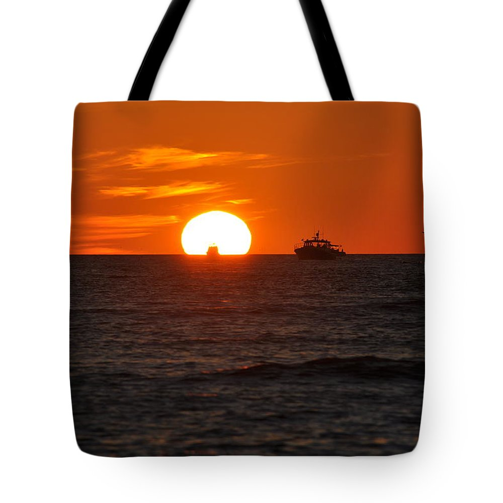 Sunset Tote Bag featuring the photograph Orange Sunset II by Christine Stonebridge