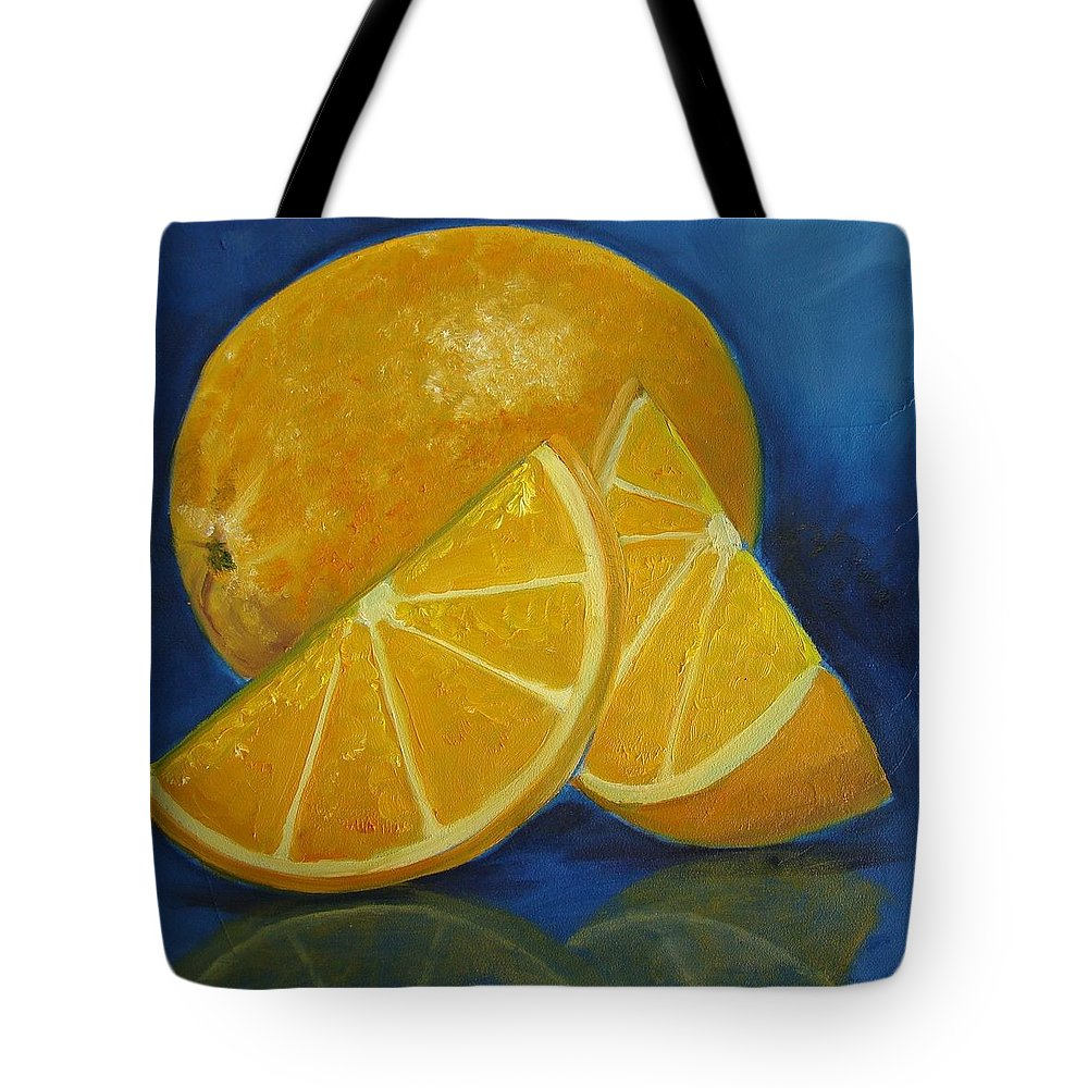 Fruit Tote Bag featuring the painting Oranges by Christina Clare