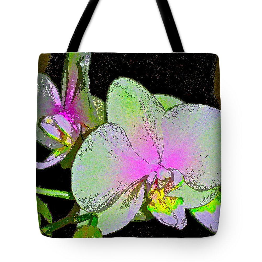Floral Tote Bag featuring the photograph Orchid 5 by Pamela Cooper
