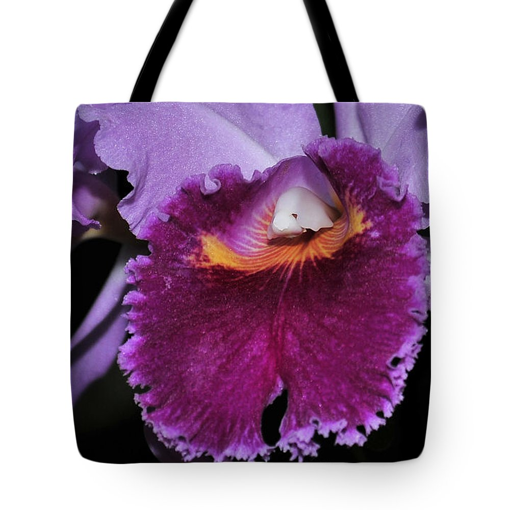 Orchid Tote Bag featuring the photograph orchid 892 Cattleya Lavender Valentine by Terri Winkler