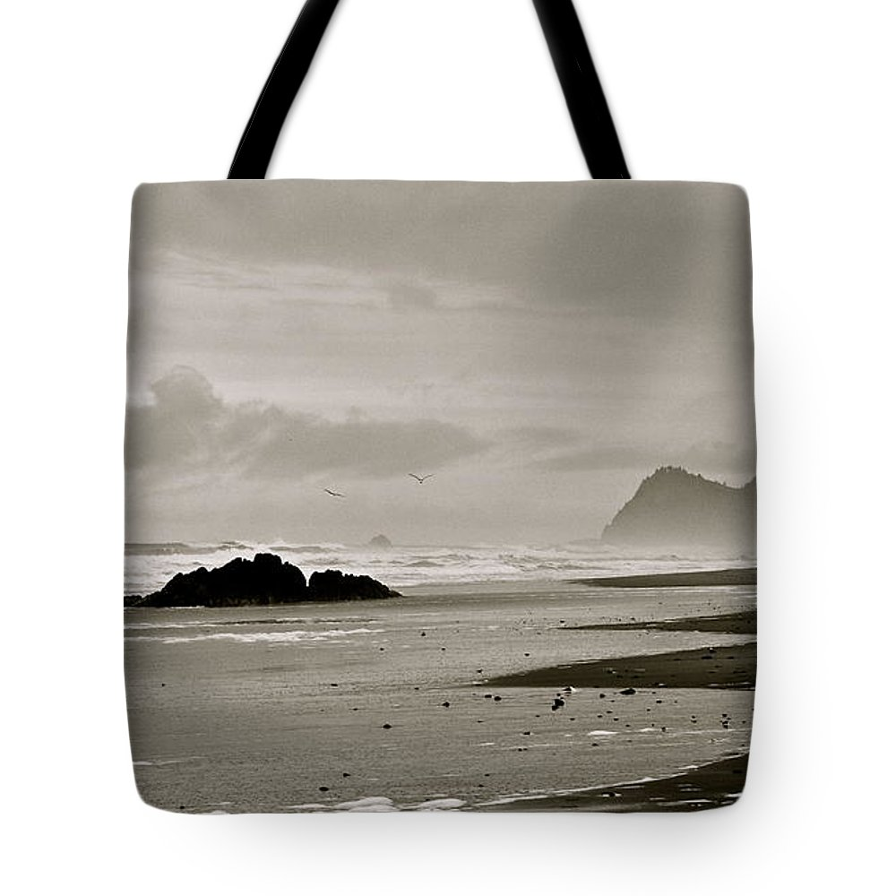 Seagulls Tote Bag featuring the photograph Oregon Coast by Eric Tressler