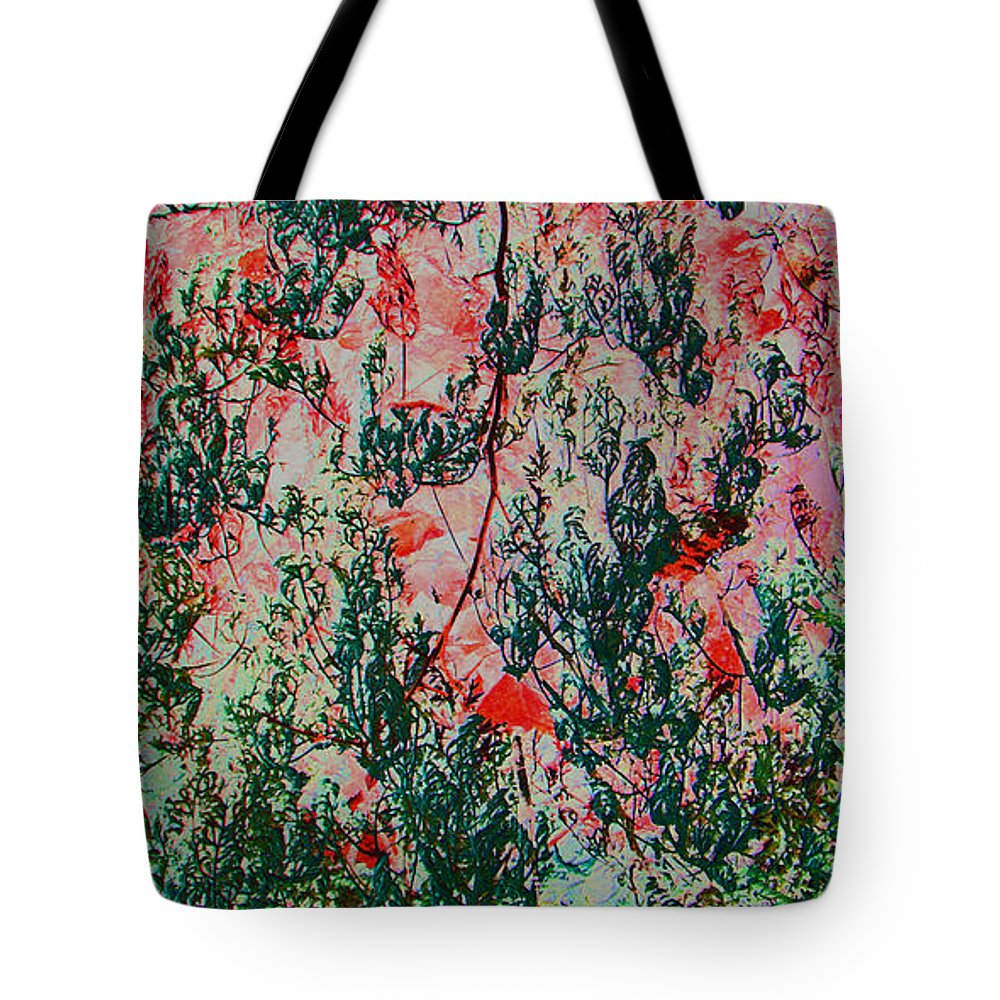 Abstract Tote Bag featuring the digital art Oriental Brush Work by Lenore Senior