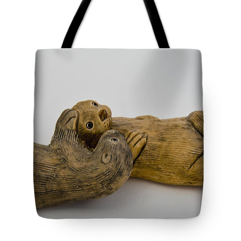 Usa Tote Bag featuring the photograph Otter Love This by LeeAnn McLaneGoetz McLaneGoetzStudioLLCcom