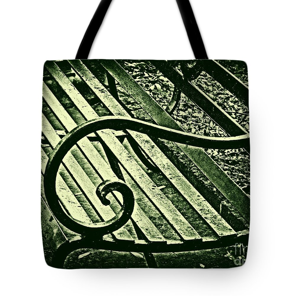 Bench Tote Bag featuring the photograph Our Bench by Susanne Van Hulst