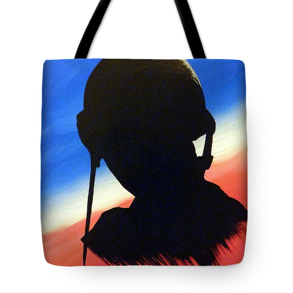 G.i. Joe Tote Bag featuring the painting The Marine by Alys Caviness-Gober