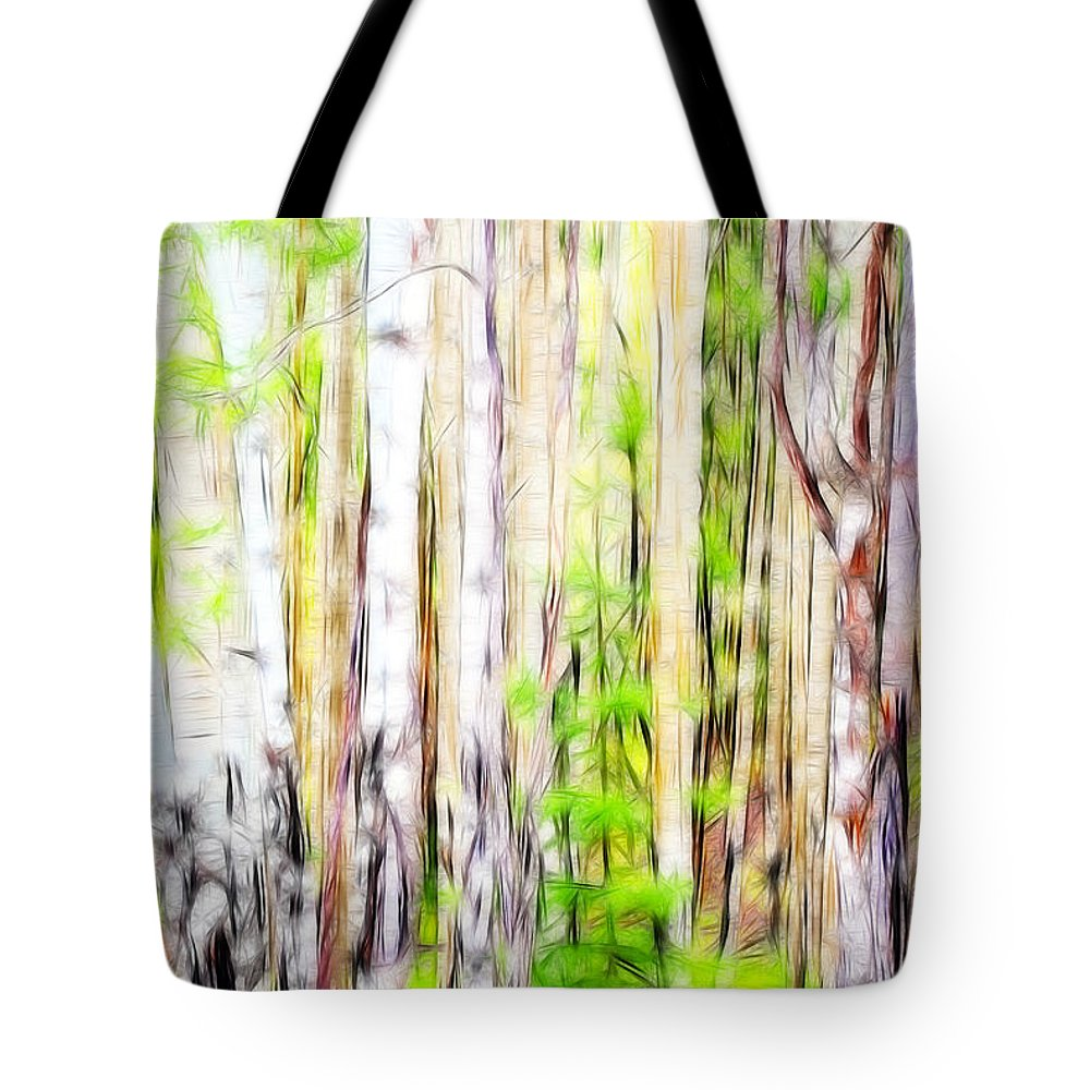 Fine Art Photography Tote Bag featuring the photograph Out Of One Many Fractal by Donna Greene