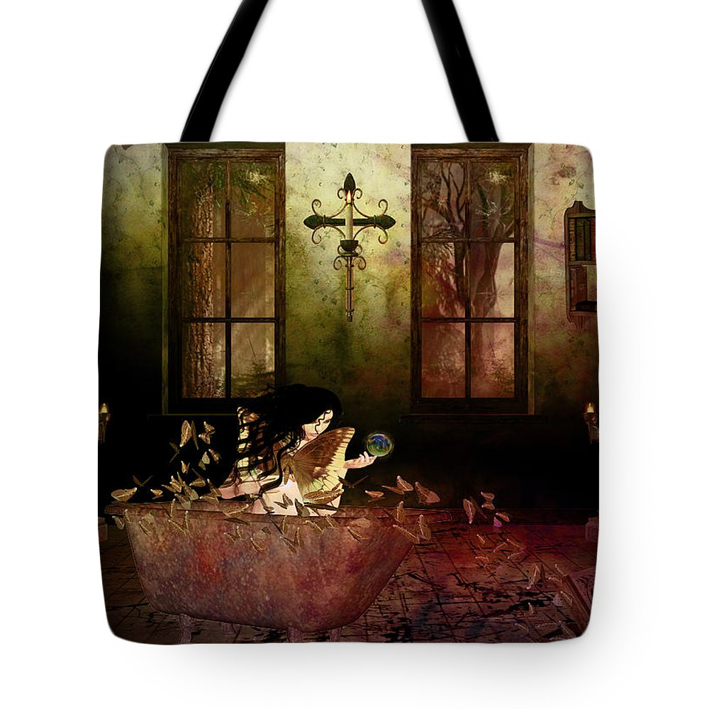 Digital Art. Digital Manipulation Tote Bag featuring the digital art Out Of The Box II by Kristie Bonnewell