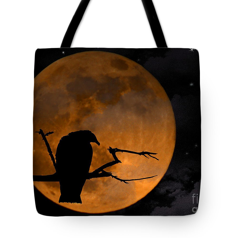 Full Moon Tote Bag featuring the photograph Out On A Limb by Ken Frischkorn