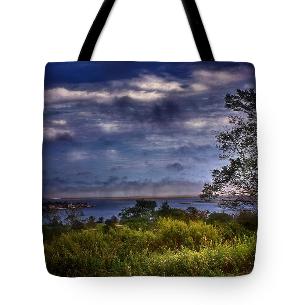 Blue Sky Tote Bag featuring the photograph Outdoors by Mikki Cucuzzo