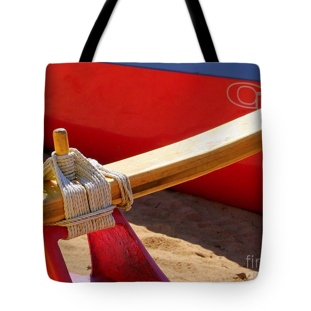Boats Tote Bag featuring the photograph Outrigger Rigging - 2 by Mary Deal