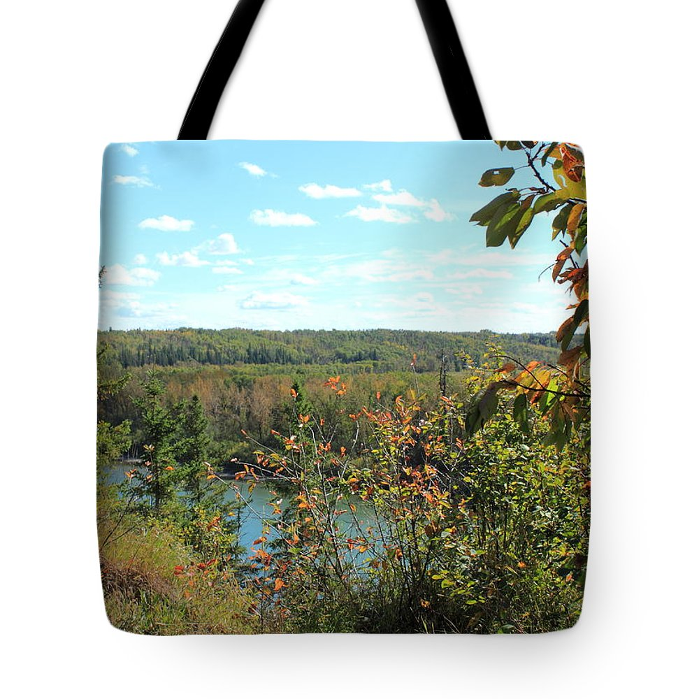 Rivers Tote Bag featuring the photograph Over The Edge by Jim Sauchyn