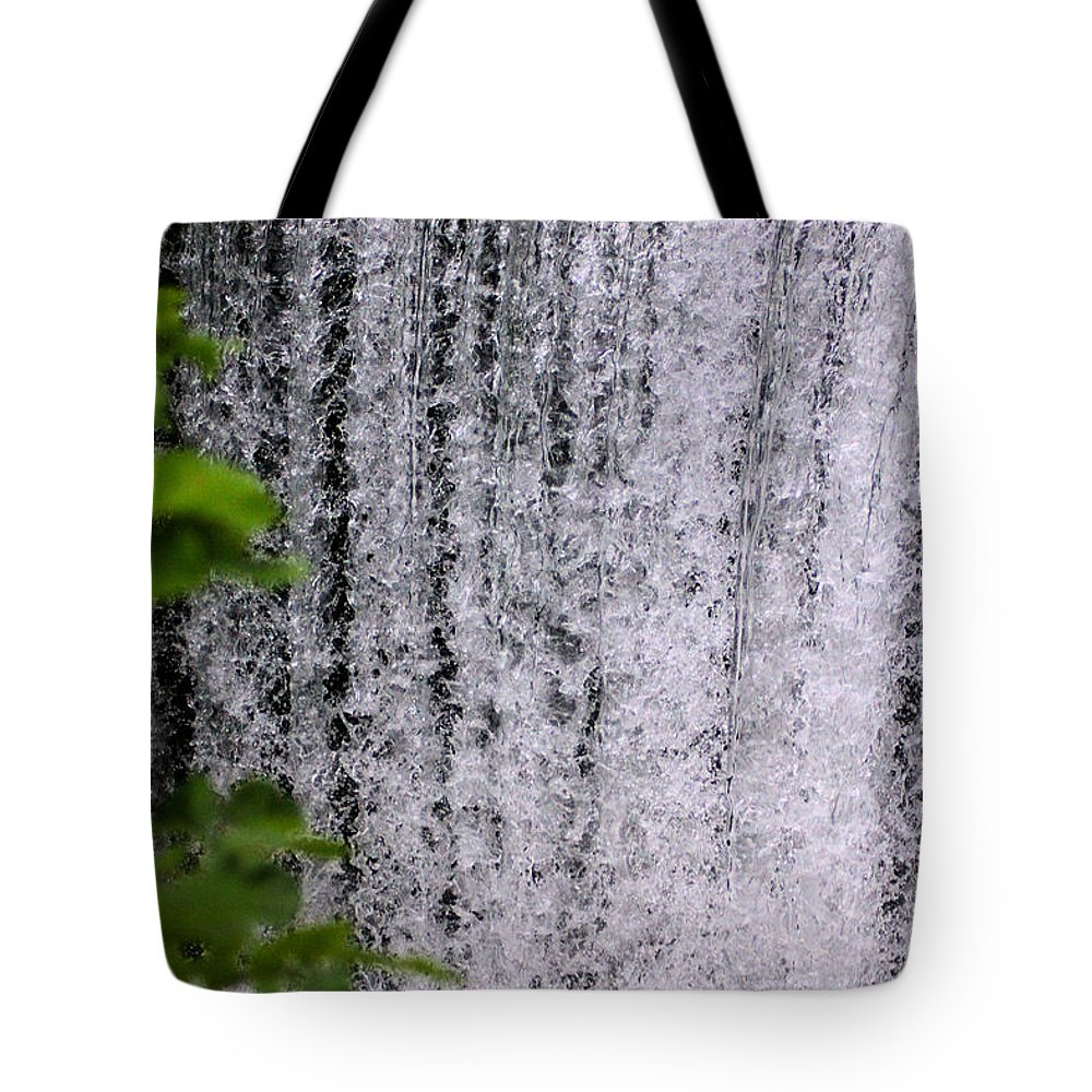 Water Tote Bag featuring the photograph Ozark Waterfall by Karen Wagner