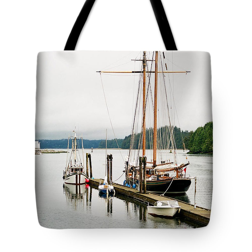 Boats Tote Bag featuring the photograph Pacific Grace by Randy Harris