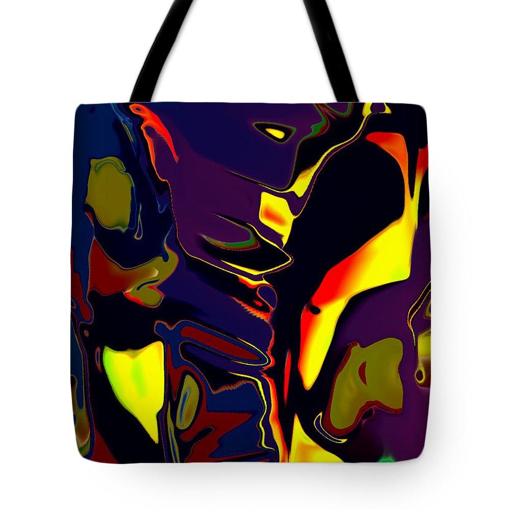 Opera Tote Bag featuring the digital art Pagliacci by Tom Hubbard