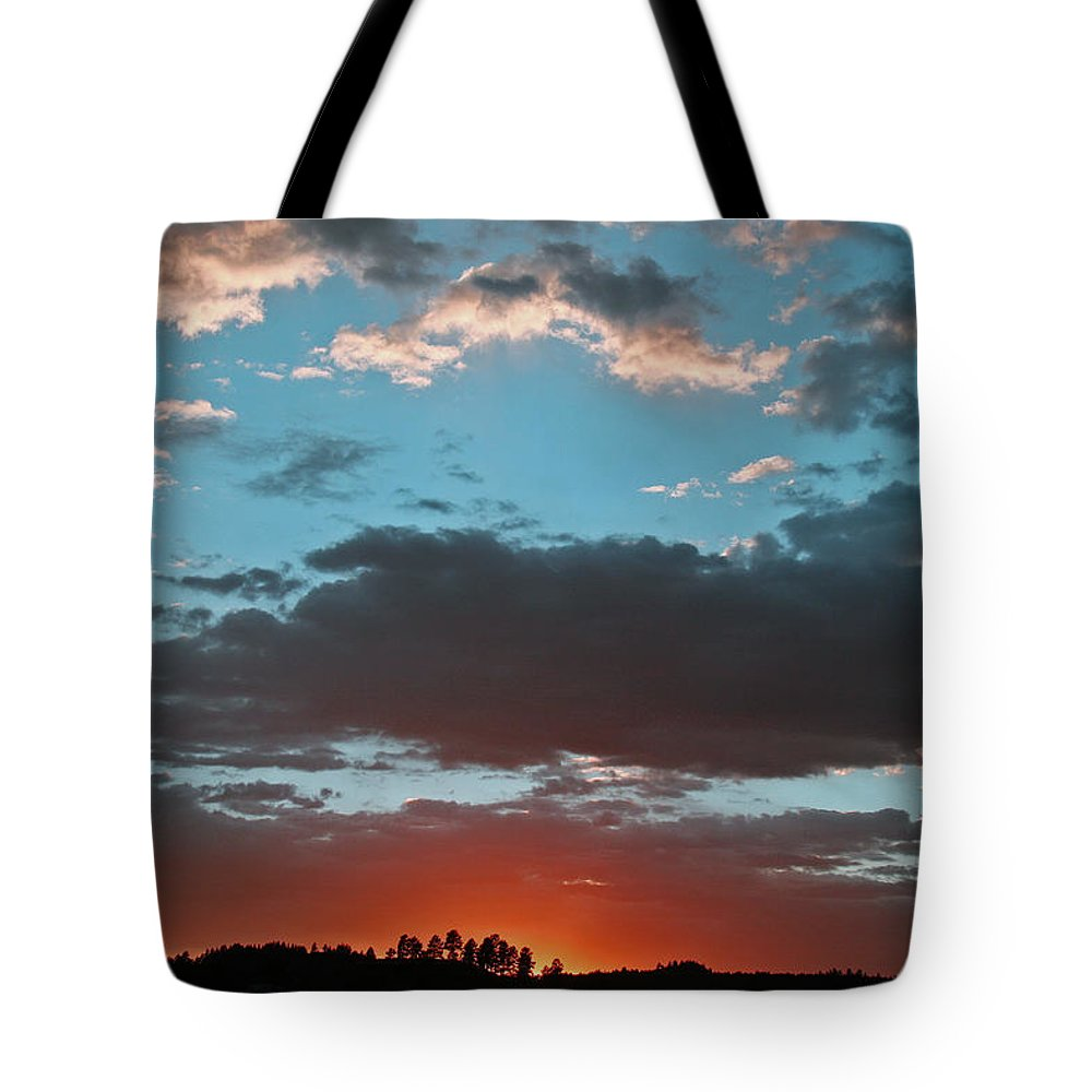 Sunset Tote Bag featuring the photograph Pagosa Springs Colorado Sunset by Elizabeth Rose