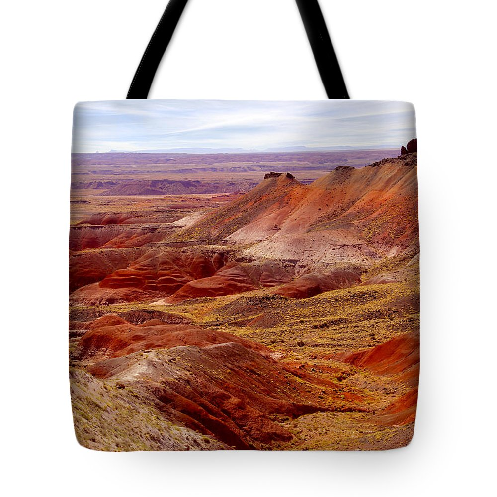 Painted Desert Tote Bag featuring the photograph Painted Desert by Mike McGlothlen