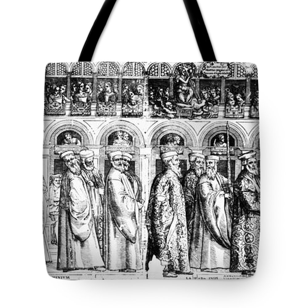 1560s Tote Bag featuring the photograph Palm Sunday Procession by Granger