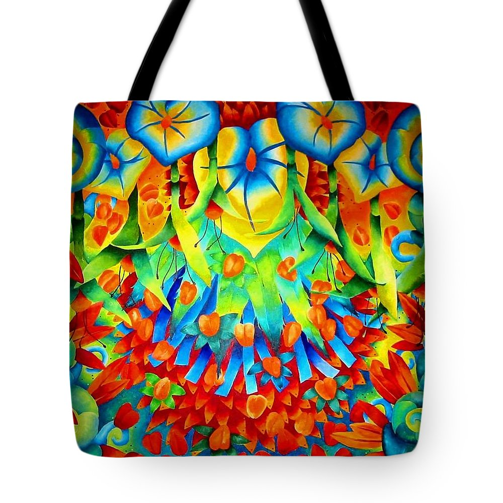 Seeds Tote Bag featuring the painting Palomar by Elizabeth Elequin