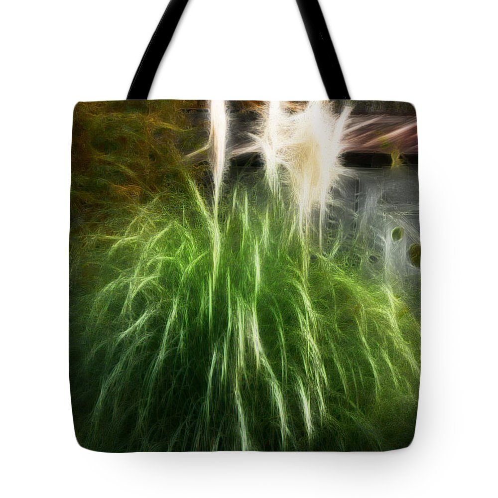 Pampas Grass Tote Bag featuring the photograph Pampas Grass by Ericamaxine Price