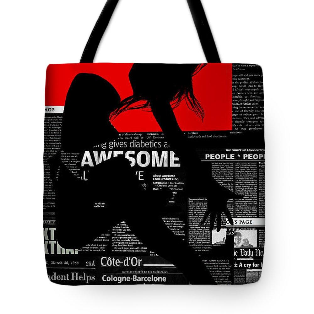 Romantic Tote Bag featuring the digital art Paper Flight by Naxart Studio