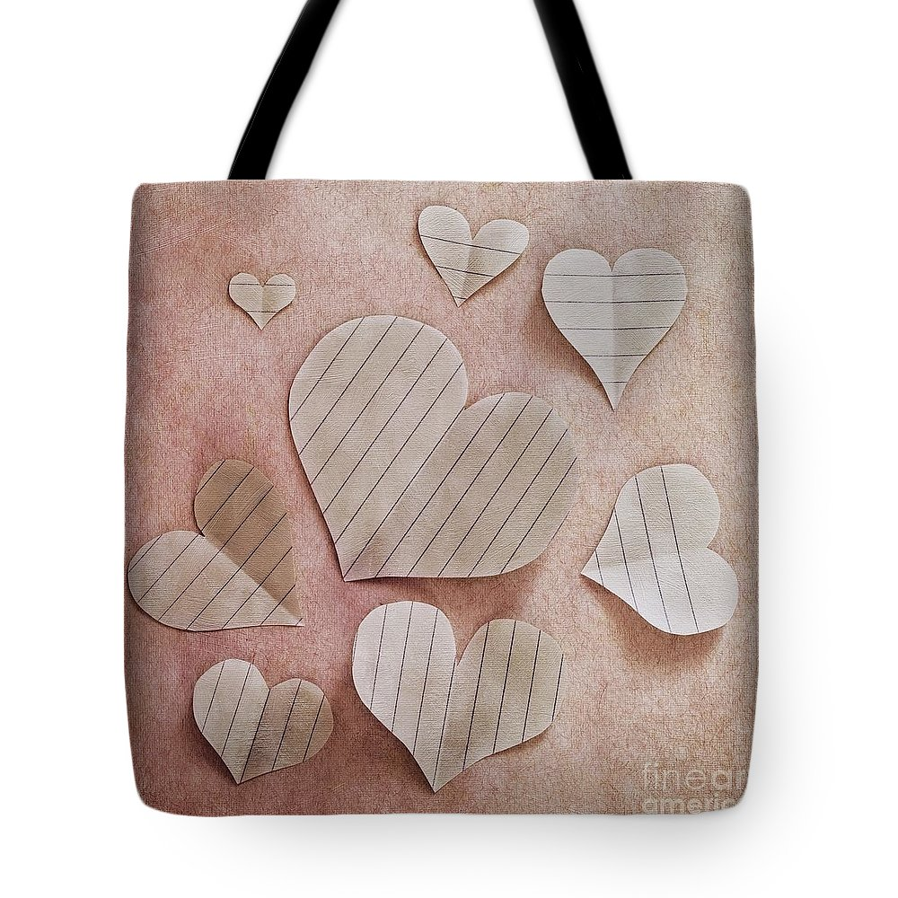 Paper Tote Bag featuring the photograph Papier D'amour by Priska Wettstein