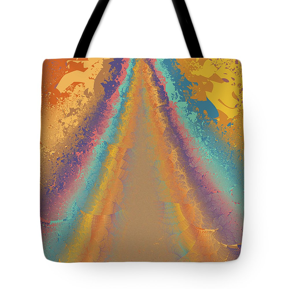 Fractal Tote Bag featuring the digital art Parameter Space Mountain by Mark Greenberg