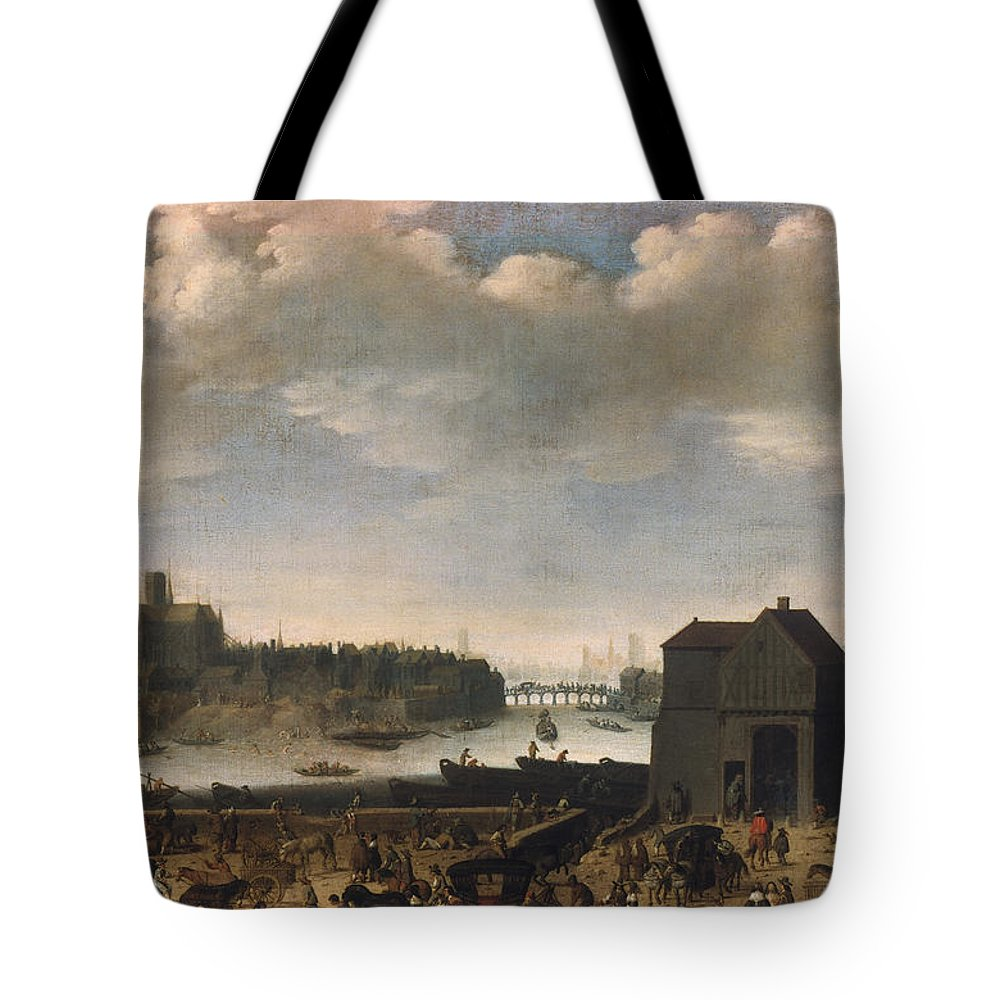 1646 Tote Bag featuring the photograph Paris, C1646 by Granger