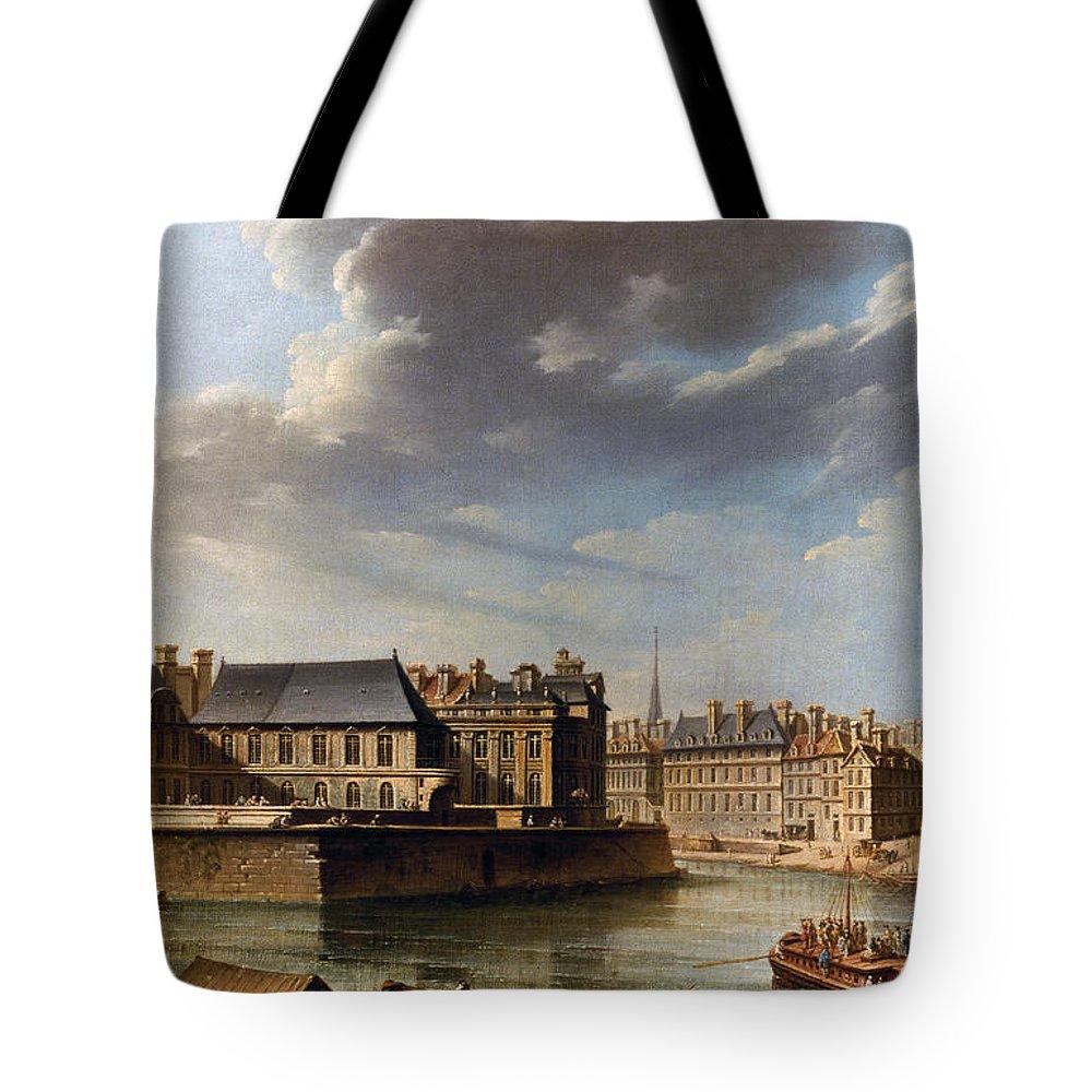 City Tote Bag featuring the photograph Paris: Ile Saint-louis by Granger