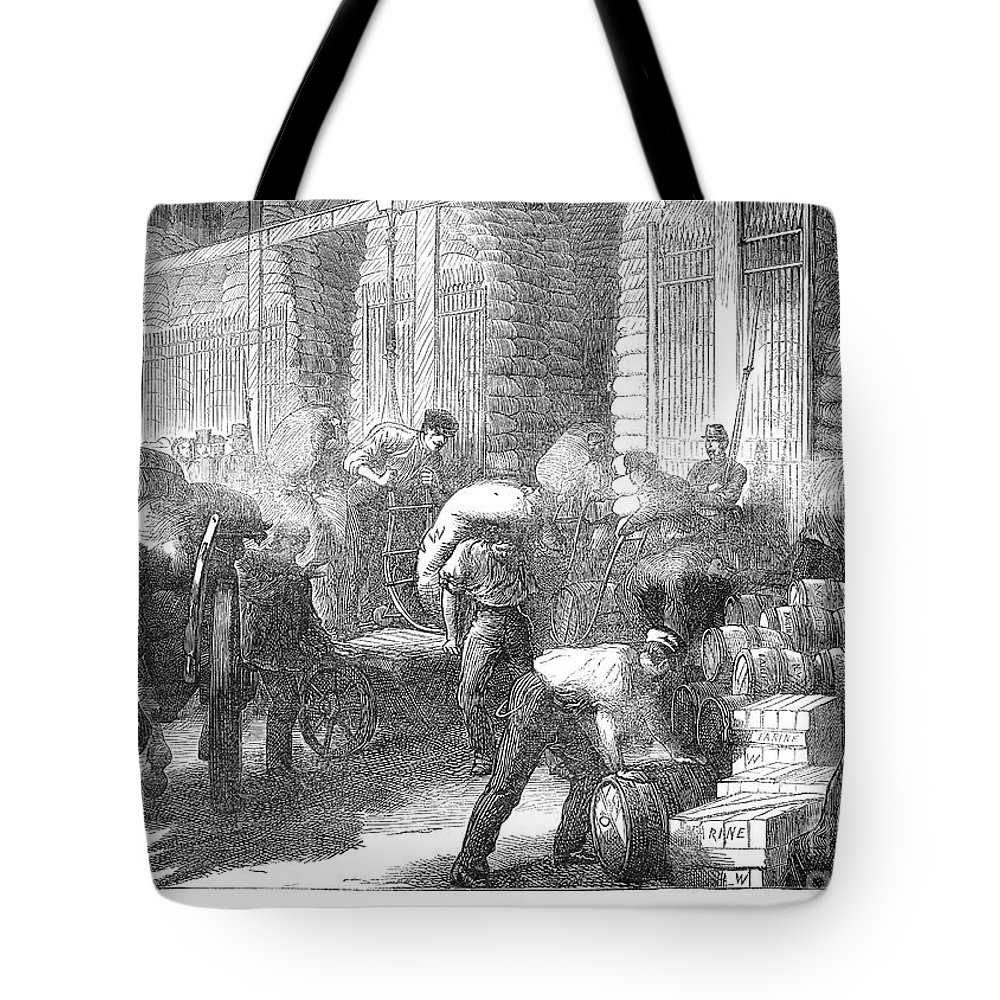 1870 Tote Bag featuring the photograph Paris: Les Halles, 1870 by Granger
