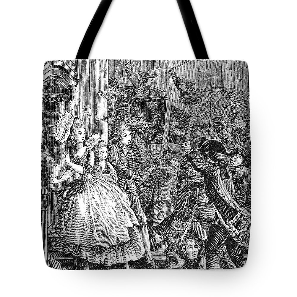 18th Century Tote Bag featuring the photograph Paris: Uproar In The Street by Granger