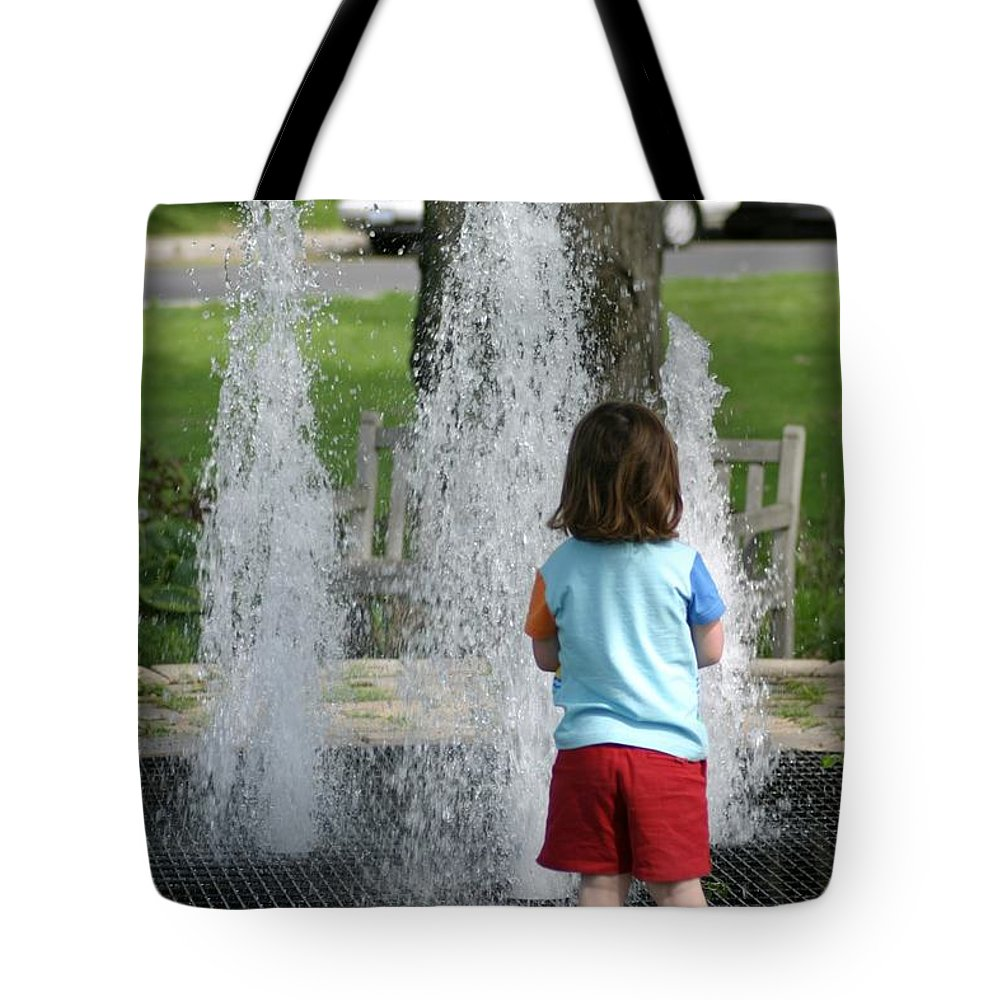 Kids Tote Bag featuring the photograph Childhood Waterpark Dreams by Ian Mcadie