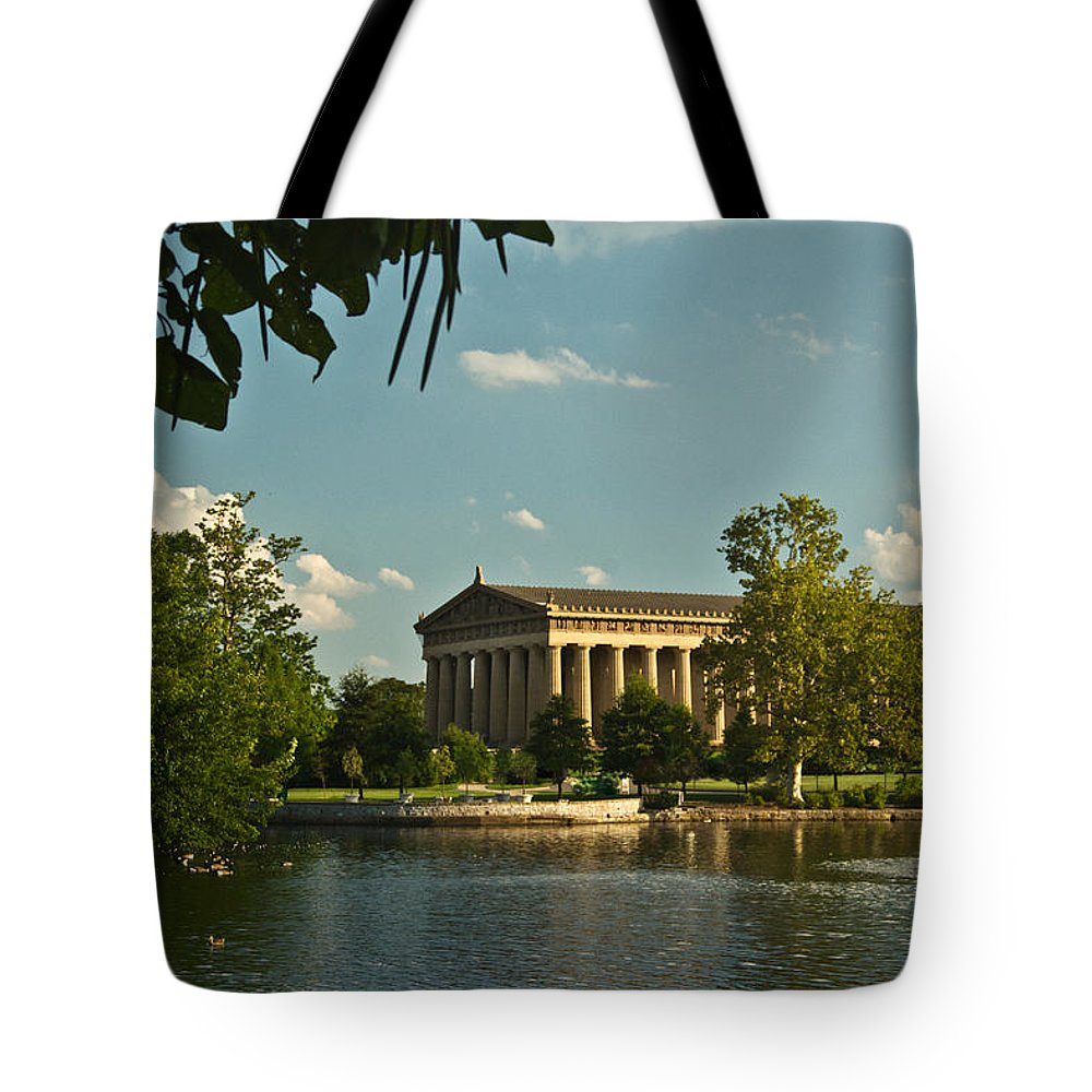 Parthenon Tote Bag featuring the photograph Parthenon At Nashville Tennessee 1 by Douglas Barnett