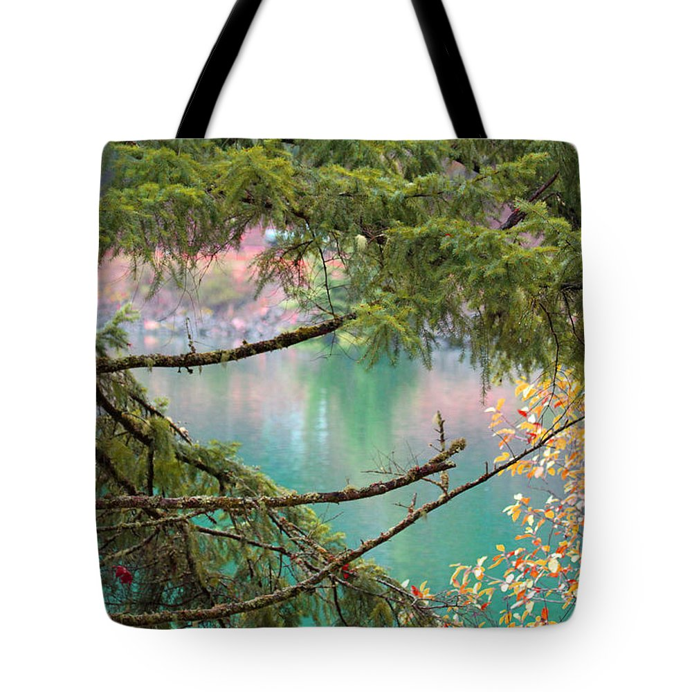 Lake Tote Bag featuring the photograph Pastels Emphasized by Marie Jamieson