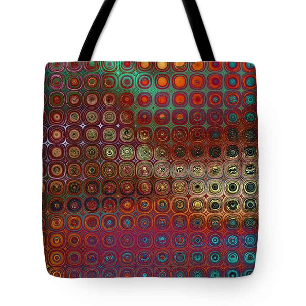 Fractal Tote Bag featuring the digital art Pattern Study I Reflections by Richard Ortolano