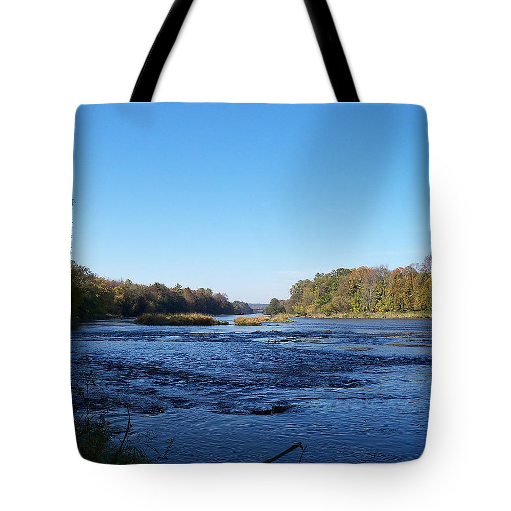 River Tote Bag featuring the photograph Peaceful River by Corinne Elizabeth Cowherd