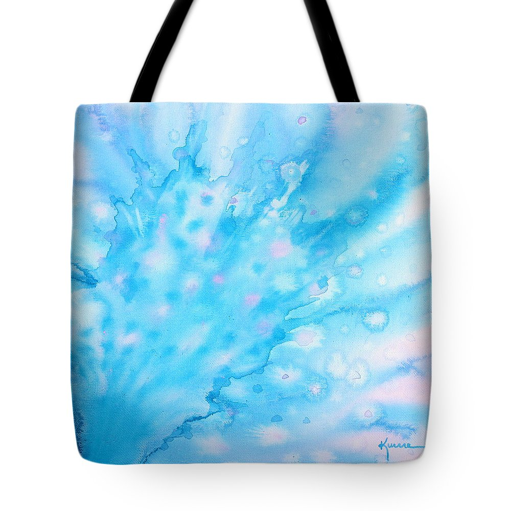 Peacock Tote Bag featuring the painting Peacock by Kume Bryant
