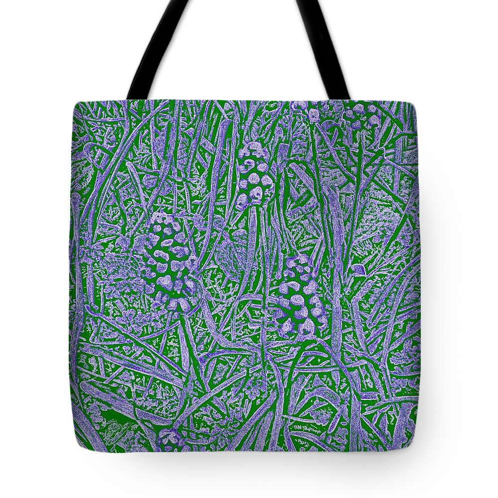 Grass Tote Bag featuring the digital art Pearls In The Grass 2 by Tim Allen