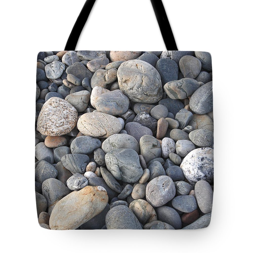 Pebbles Tote Bag featuring the photograph Pebbles by Milena Boeva