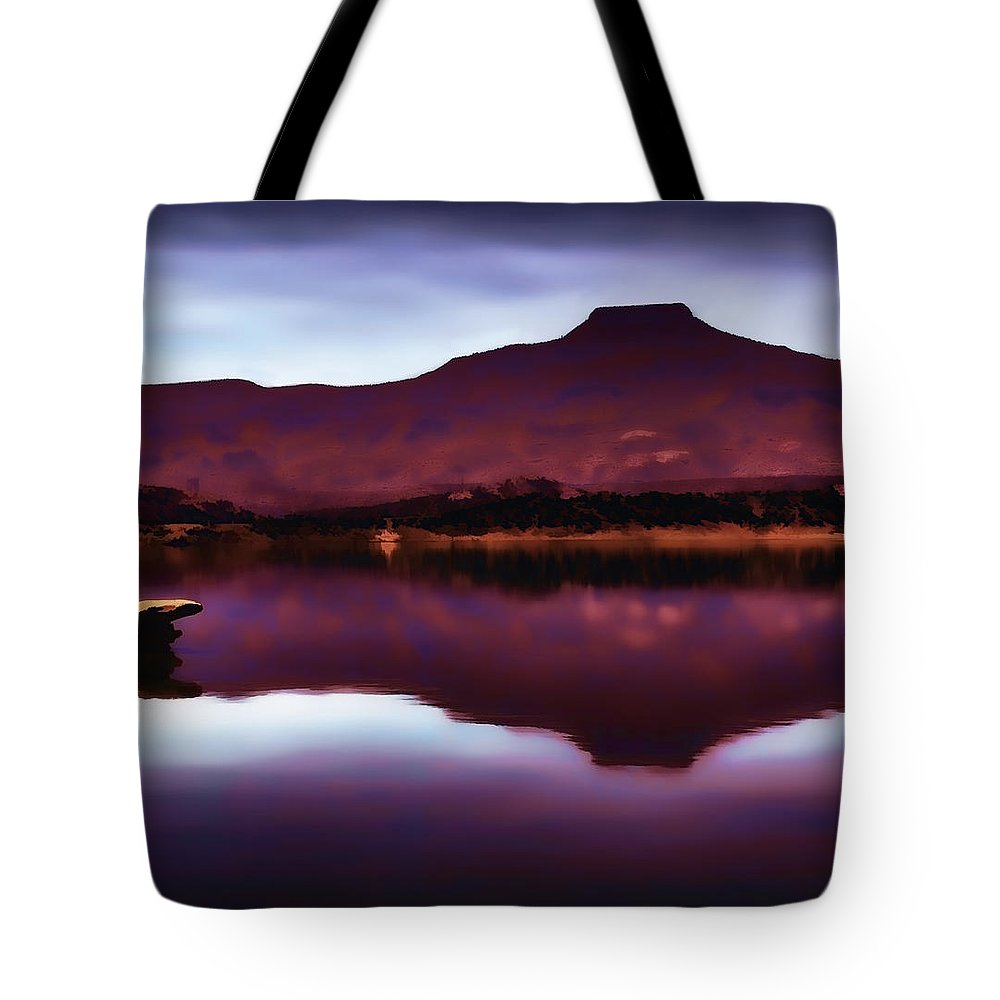 Pedernal Tote Bag featuring the photograph Pedernal by John Hansen