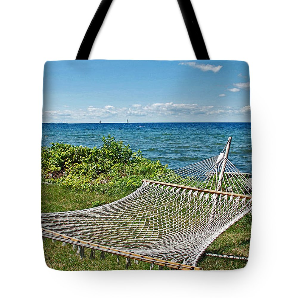 Lake Tote Bag featuring the photograph Perfect Vacation Spot by Aimee L Maher ALM GALLERY