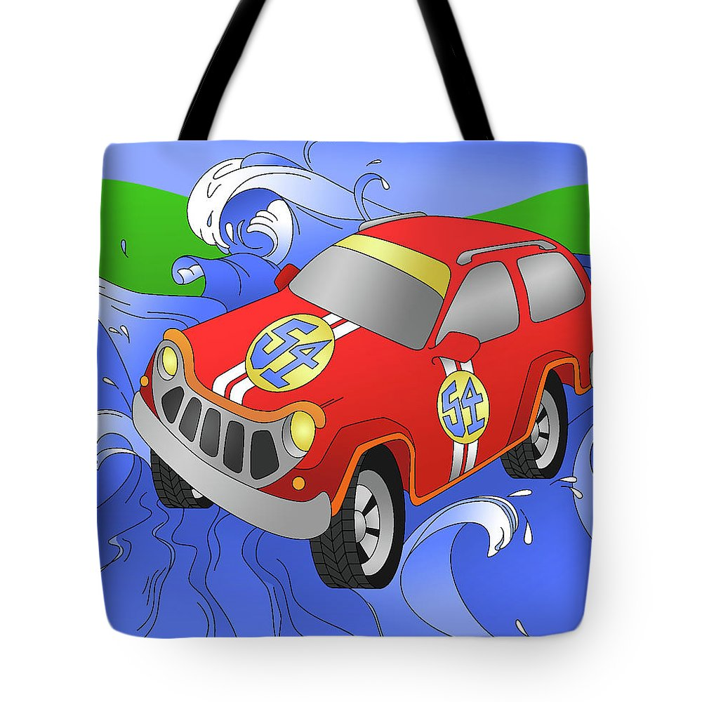 Car Tote Bag featuring the digital art Performance by Alison Stein