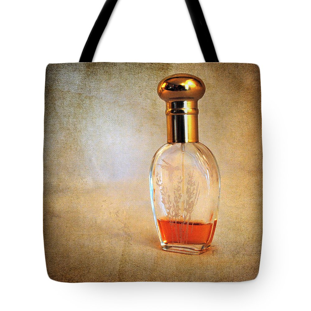 Antique Tote Bag featuring the photograph Perfume Bottle I by Jai Johnson