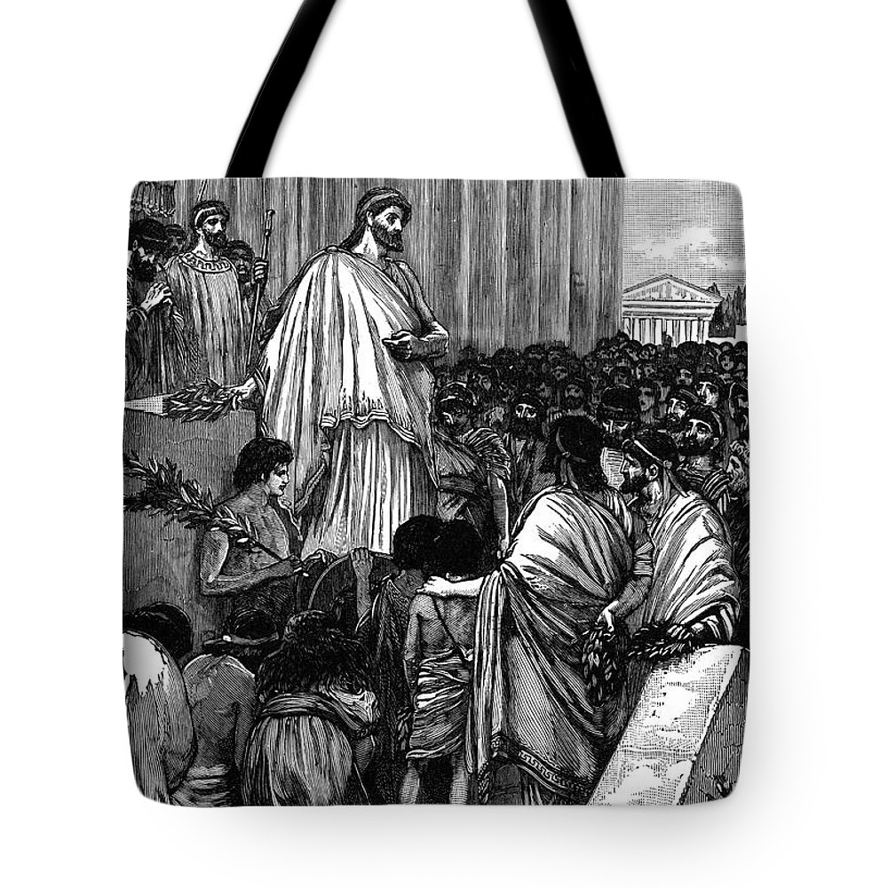 431 B.c Tote Bag featuring the photograph Pericles (c495-429 B.c.) by Granger