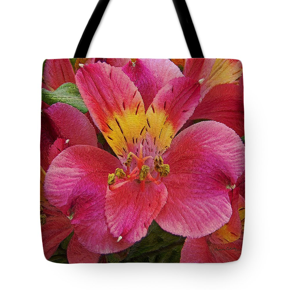 Peruvian Lilies Tote Bag featuring the photograph Peruvian Lilies by Ernie Echols
