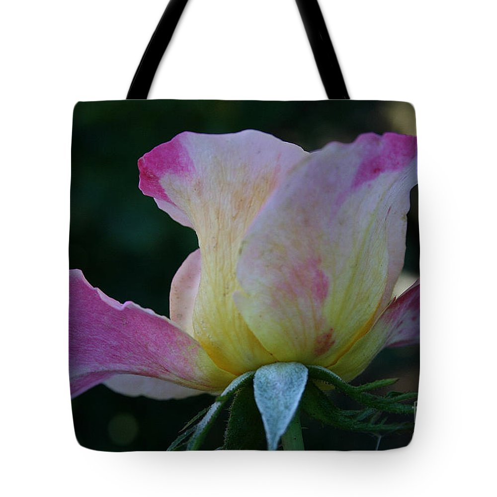 Flower Tote Bag featuring the photograph Petal Let Down by Susan Herber