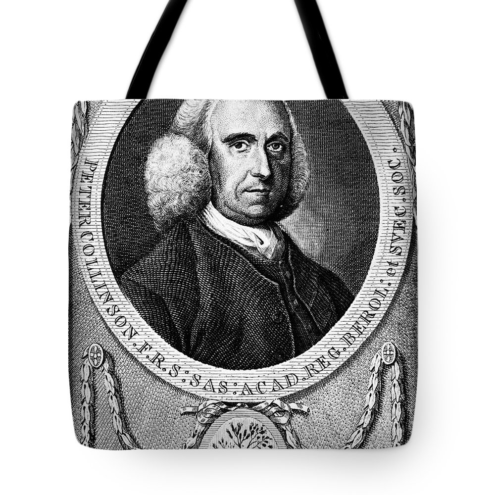 18th Century Tote Bag featuring the photograph Peter Collinson (1694-1768) by Granger
