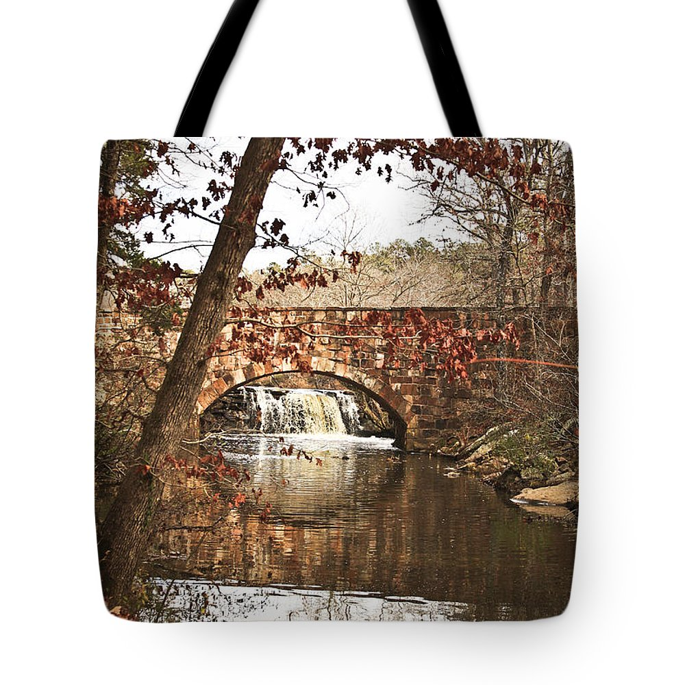 Bridge Tote Bag featuring the photograph Petit Jean State Park by Kim Henderson