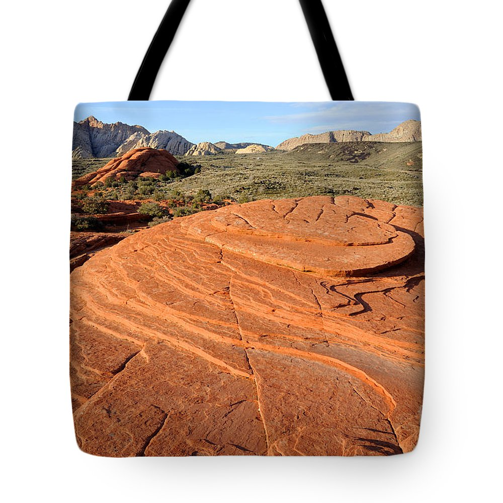 Bedrock Tote Bag featuring the photograph Petrified Sand Dunes - Snow Canyon Utah by Gary Whitton